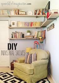 Industrial Bookcase Diy Diy Industrial Shelves Spoonful Of Imagination