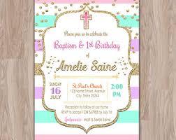 baptism and 1st birthday invitations angel baptism