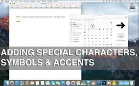 how to use special characters symbols emojis and accents on mac