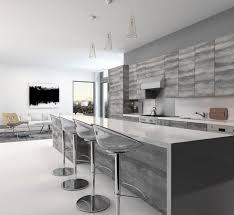 cuisine grise plan de travail noir cuisine grise la cuisine tendance en 40 modèles gris clair