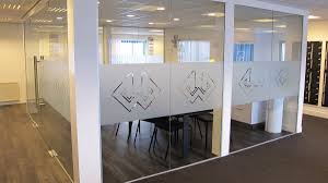 frosted window film logo office business frosted window film