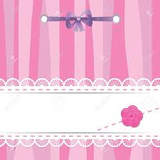 baby ribbon card with laces flower and ribbon royalty free cliparts vectors