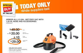 home depot shop vac black friday home depot wet dry vac for 29 00 with free shipping saving the