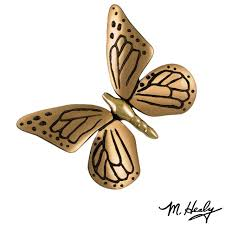 butterfly brass and bronze door knocker michael healy