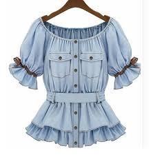 denim blouses 2017 fashion denim blouses shirts casual blusas tops