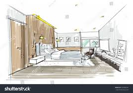 Room Design Free Home Interior Furniture Sofa Armchair Table Stock Illustration