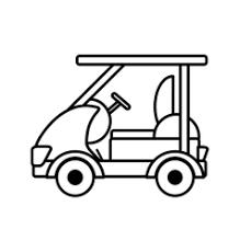 golf caddy vehicle royalty free vector image vectorstock