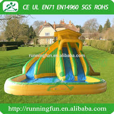 backyard kids inflatable water slide with pool inflatable water