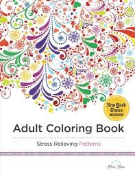 coloring book stress relieving patterns blue star coloring