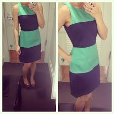 banana republic navy and green striped dress 00p fitting room