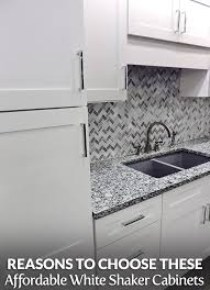 cheap white shaker kitchen cabinets reasons to choose these affordable white shaker cabinets