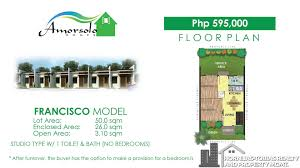 House With Floor Plan Fransisco House And Lot Package In Amorsolo Homes Davao Property