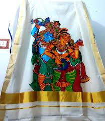 Mural Painting Designs by Kerala Mural Design On Kerala Saree U0027 Kerala Mural Painting On