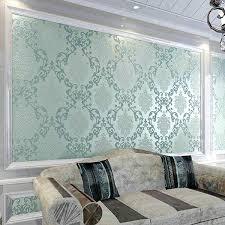 Damask Wall Decor European 3d Bedroom Floral Wallpaper Modern 3d Flocking Flowers