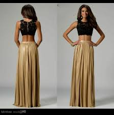 black and gold two piece prom dress naf dresses