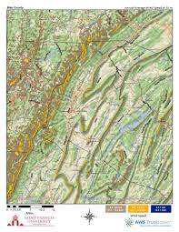 Map Of Counties In Pennsylvania by Pennsylvania Wind Maps St Francis University