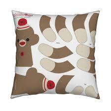 sock monkey cut and sewing pattern fabric fantastictoys