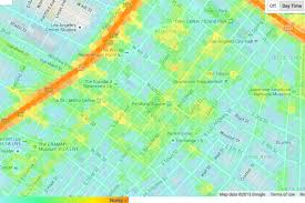 Maps Google Com Los Angeles by Mapping The Noise Levels At Every Point Around Los Angeles Curbed La
