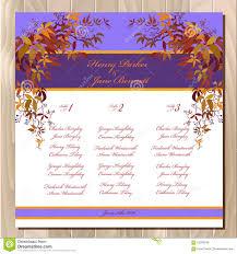Wedding Invite Spreadsheet Table Guest List Autumn Wild Grape Background Wedding Design