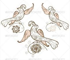 three bird ornament vector by galinalyalina graphicriver