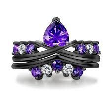 Purple Wedding Rings by Purple And Black Diamond Ring Purple And Black Diamond Engagement