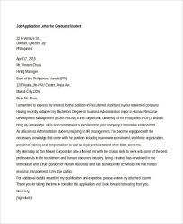 Application Letter For Applying As Ideas Of 9 Sle Application Letters For Free Sle