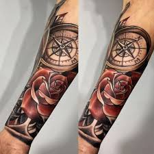 75 rose and compass tattoo designs u0026 meanings choose yours 2018