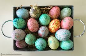 speckled easter eggs how to make speckled easter eggs thirty something runner