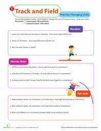 measurement mania 2 track and field worksheet education com