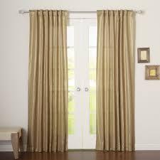 Grommet Curtains Best Home Fashion Inc Metallic Shimmer Linen Blend Solid