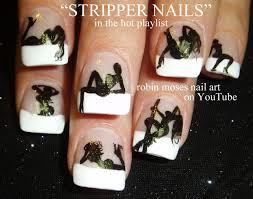 nails exotic dancer nail art design stripper nails tutorial