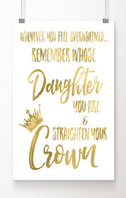 christmas quote daughter fall in love with this gold foil art print