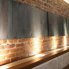 Fake Exposed Brick Wall Faux Brick Wall I Made Using Joint Compound And A Stencil Then