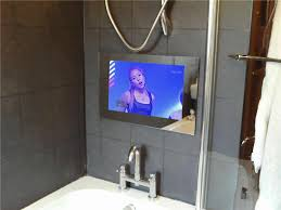 tv in the mirror bathroom tv behind mirror bathroom home decoration ideas