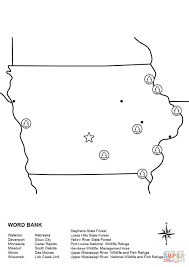 iowa map worksheet coloring page free printable coloring pages