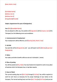 42 sample offer letter template free u0026 premium templates