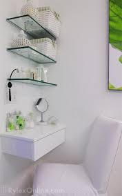 Floating Glass Shelves For Bathroom Floating Glass Shelves For Bathroom Foter Intended Prepare 8