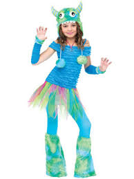 Blue Monster Halloween Costume Girls Monsters Costumes Kids Monster Halloween Costumes