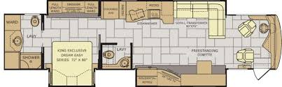 Rv Floor Plans Class A 2017 Fleetwood Discovery Lxe 40d Class A Diesel Tulsa Ok Rv For