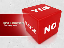 decision cube powerpoint template backgrounds 04774