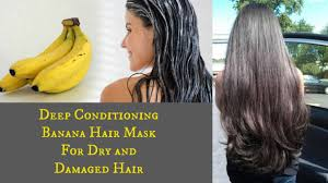 banana for hair diy conditioning banana hair mask for damaged hair