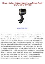 mercury mariner outboard motor service manual by leticia hisle issuu