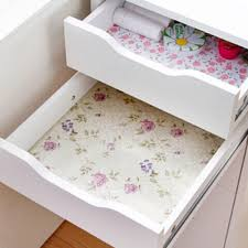 200cm flower dots sticker shelf cabinet drawer liner kitchen