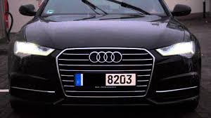 audi a6 headlights audi a6 facelift 2015 led frontscheinwerfer youtube