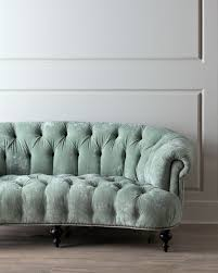 Teal Tufted Sofa by Old Hickory Tannery