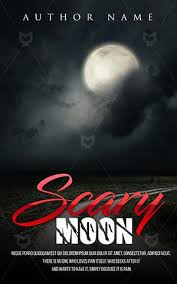horror book cover design scary moon