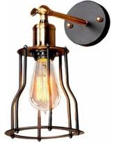 Edison Wall Sconce Great Deal On Black Edison Cage Wall Sconce