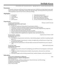 Instructor Resume Samples Best Gymnastics Instructor Resume Example Livecareer