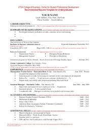 resume template student undergraduate resume template word resume paper ideas
