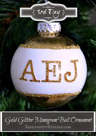 serendipity refined blog gold and white monogram glass ball